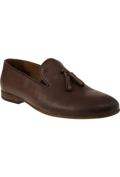 Alisolmaz 6540-5 8y Bağsiz Klasik Kahverengi Erkek Ayakkabı