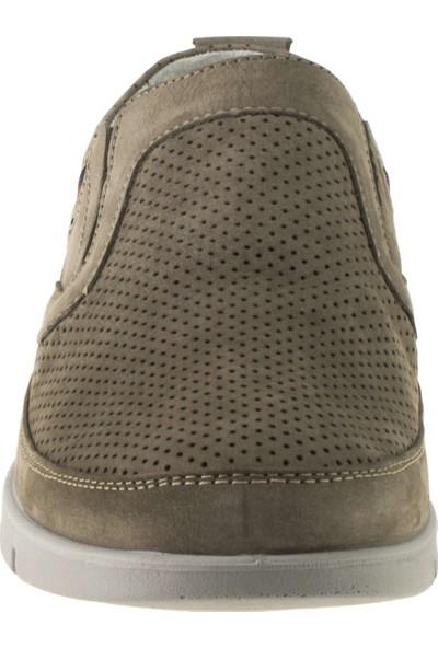 Scooter M5193 Memory Foam Nubuk Gri Erkek Ayakkabı