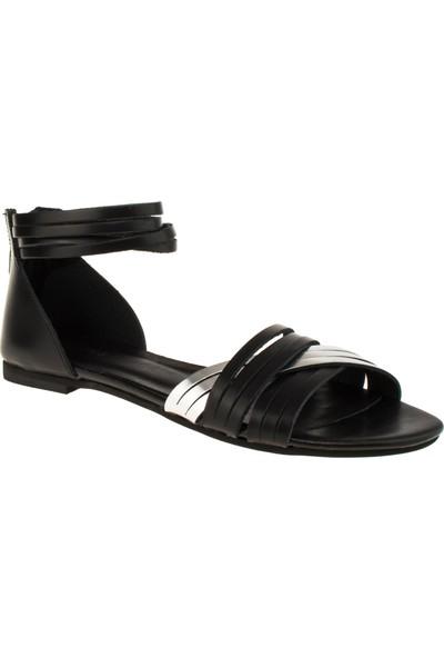 Greyder 54841 Düz Siyah Kadın Sandalet