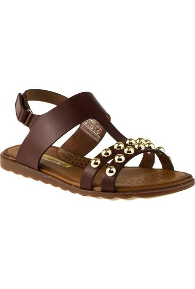 Greyder 97044 Filet Kız Kahverengi Çocuk Sandalet