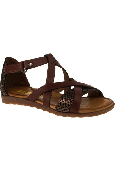 Greyder 97049 Patik Kız Kahverengi Çocuk Sandalet