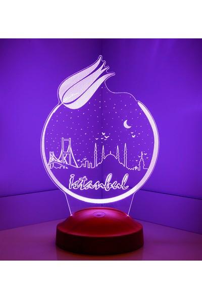 3 Boyutlu İstanbul Temalı LED Lamba