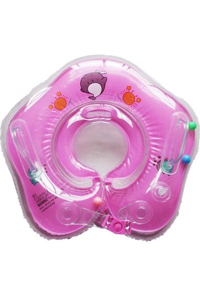 Momz Bebek Yüzme Boyun Simidi Pembe