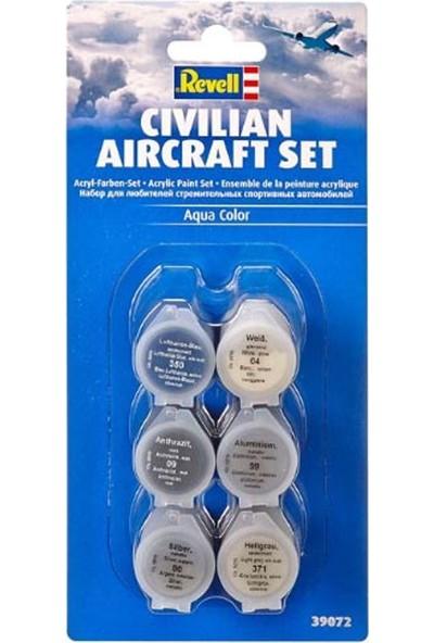 Revell-39072 Sivil Uçaklar için Blister Boya Seti