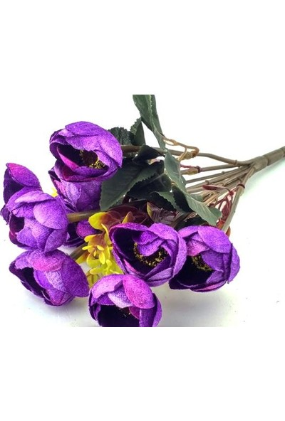 Elitetime Çiçek El Buketi Şakayık Kadife Mor