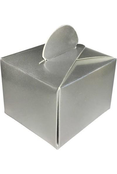 Elitetime Lokumluk Karton Düzrenk Desensiz Gümüş