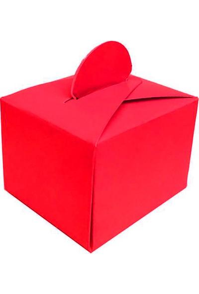 Elitetime Lokumluk Karton Düzrenk Desensiz Kırmızı