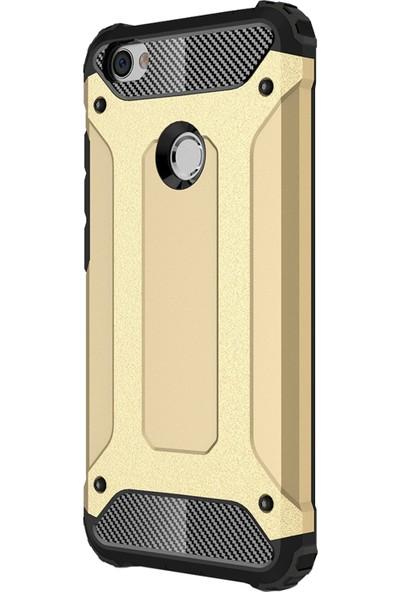 Microsonic Xiaomi Redmi Note 5A Prime Kılıf Rugged Armor Gold