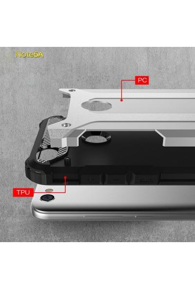 Microsonic Xiaomi Redmi Note 5A Prime Kılıf Rugged Armor Siyah