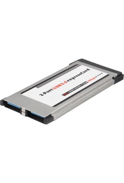 Alfais 5120 2 Port Usb 3.0 34Mm Express Cardbus Pcmcia Adaptör Kartı