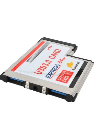 Alfais 5119 2 Port Usb 3.0 54Mm Express Cardbus Pcmcia Adaptör Kartı
