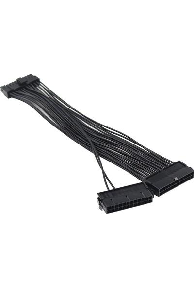 Alfais 5145 24 Pin Atx Dual Psu Çoklayıcı Adaptör Anakart Mining Kablosu