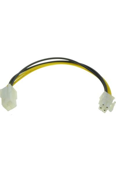Alfais 5116 4 Pin Atx Cpu Power Supply Dişi Erkek 12V Uzatma Güç Kablosu