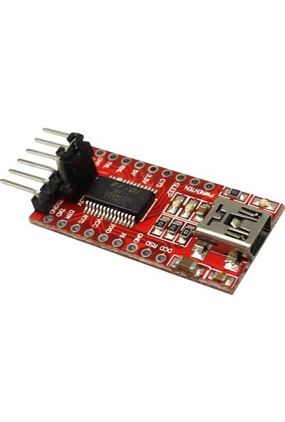 Alfais 5104 Ft232Rl Mini Usb To Ttl Arduino Çevirici Dönüştürücü 3.3V 5.5V Adaptör