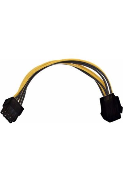 Alfais 4830 6 Pin To 8 Pin Pcı E Express Çevirici Power Güç Kablosu