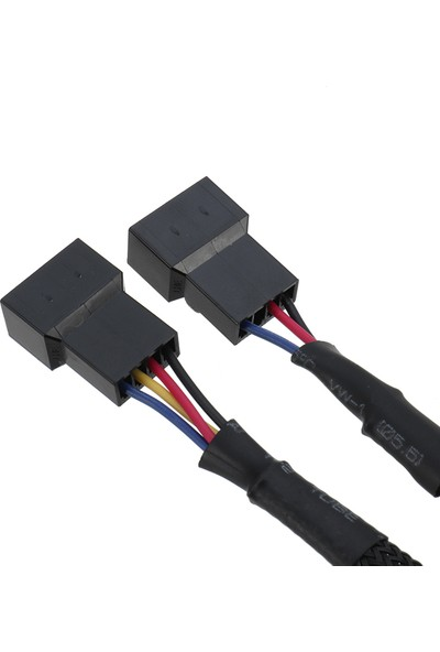 Alfais 5025 Fan Çoklayıcı Y Pwm 4 Pin Splitter Çoklayıcı Switch Kablosu
