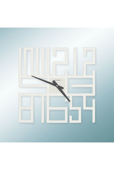 Regal 1154 W Lazer Kesim Beyaz Duvar Saati