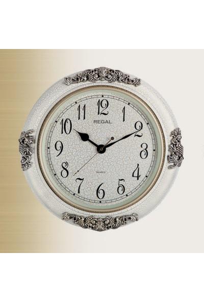 Regal 8111 Ww Gümüş Ve Beyaz Renk Duvar Saati