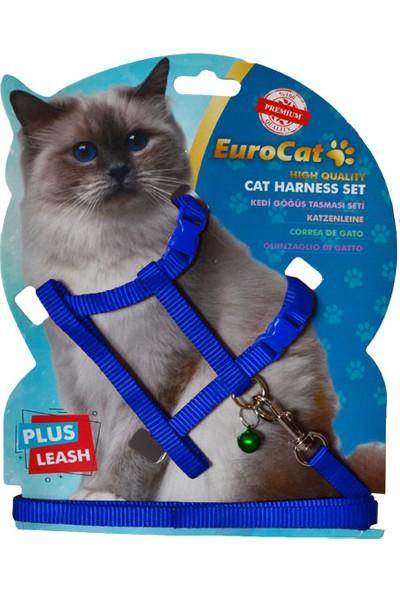 EuroCat Kedi Göğüs Tasması Mavi