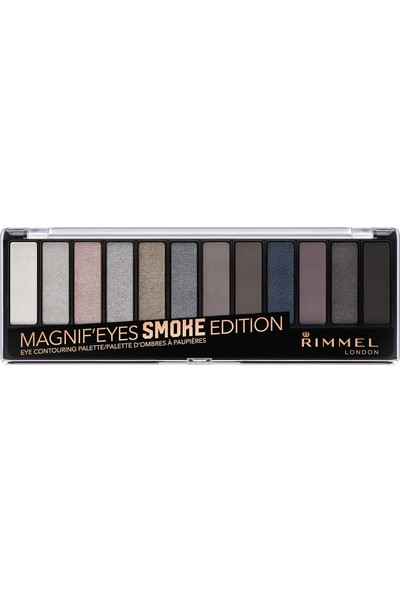 Rimmel London Magnif'Eyes Far Paleti 12'li Smoke Edition