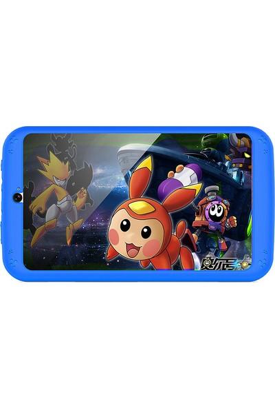 "Everest 154M 7"" Çocuk Akıllı Saat + Tablet Çift Kamera Pembe 1GB DDR3 1.3GHz x4 8GB Android 6.0 Çocuk Tablet Pc"