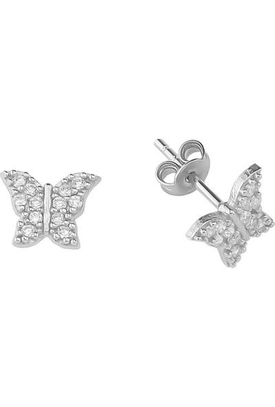 Glorria Gümüş Kelebek Küpe