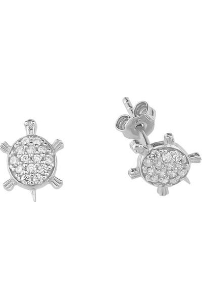 Glorria Gümüş Kaplumbağa Küpe