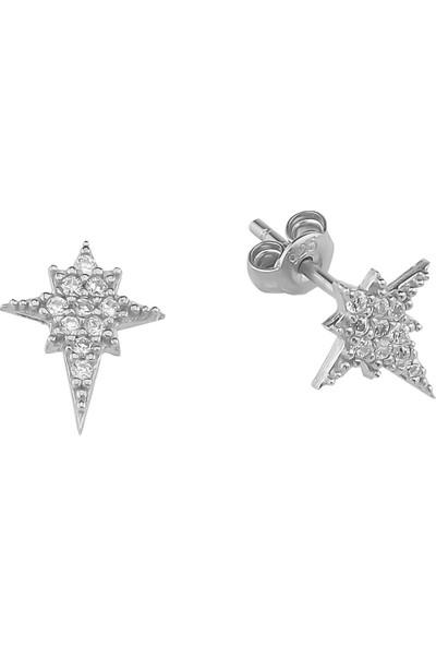 Glorria Gümüş Kutup Yıldızı Küpe