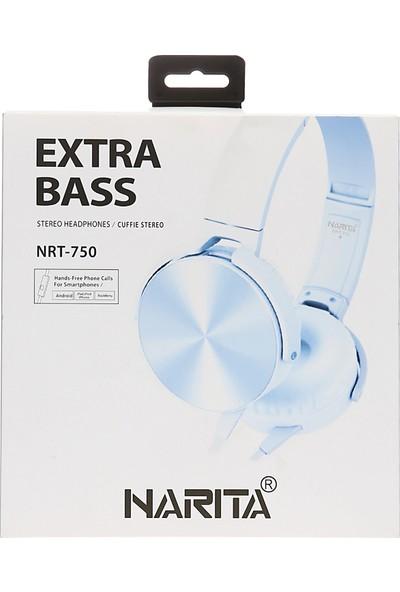 Narita NRT-750 Extra Bass Mikrofonlu DJ Kulaklık