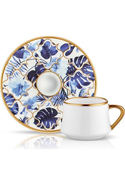 Koleksiyon Sufi 6 Kişilik Türk Kahvesi Fincanı Takımı Amazon Mavi