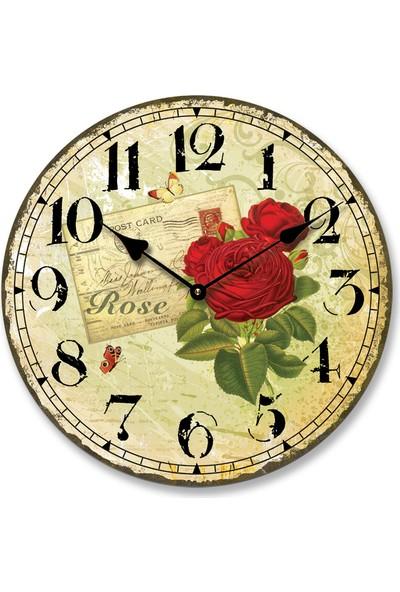 Ultima Regal Ahşap Üzeri Eskitme Kadranlı Saat