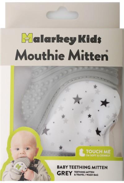 Mouthie Mitten - Yıldız Grisi Düşmeyen Diş Kaşıyıcı Eldiven