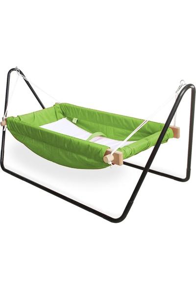 Svava Ahşap Bebek Hamak Beşik (Yeşil)