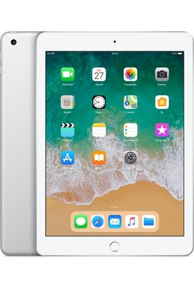 Apple iPad 6.Nesil128GB 9.7 Wi-Fi IPS Tablet - Gümüş MR7K2TU/A