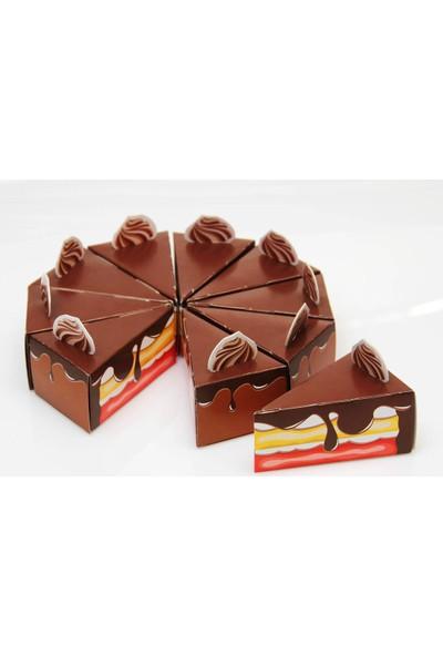 Mevlid Hediyesi Mevlüt Şekeri Kutusu - Pasta Dilimi - Çikolatalı - 25 adet