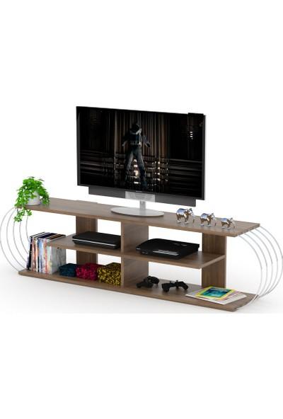 Rafevi Case TV Ünitesi (Ceviz-Krom)