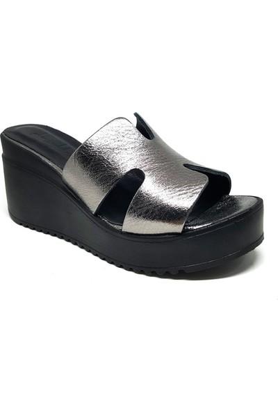 Shop And Shoes 212-824 Kadın Terlik Platin