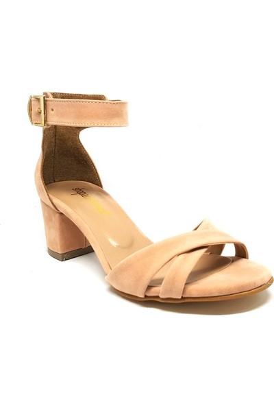 Shop And Shoes 164-15 Kadın Ayakkabı Pudra Süet