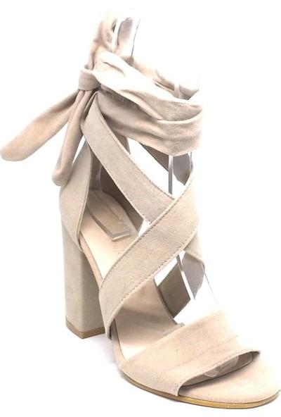 Shop And Shoes 173-0301 Kadın Ayakkabı Bej Süet