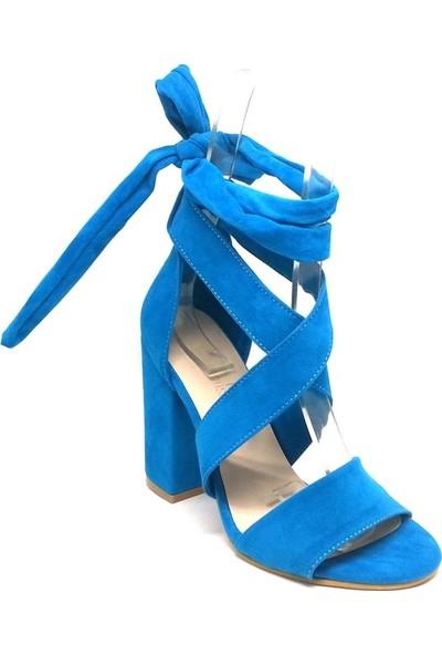 Shop And Shoes 173-0301 Kadın Ayakkabı Turkuaz Süet