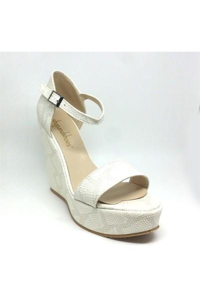 Shop And Shoes 173-1523 Kadın Ayakkabı Krem