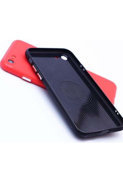 Case 4U Apple iPhone SE 2020 / iPhone 8 / iPhone 7 Kılıf Mıknatıslı Silikon Arka Kapak - Siyah