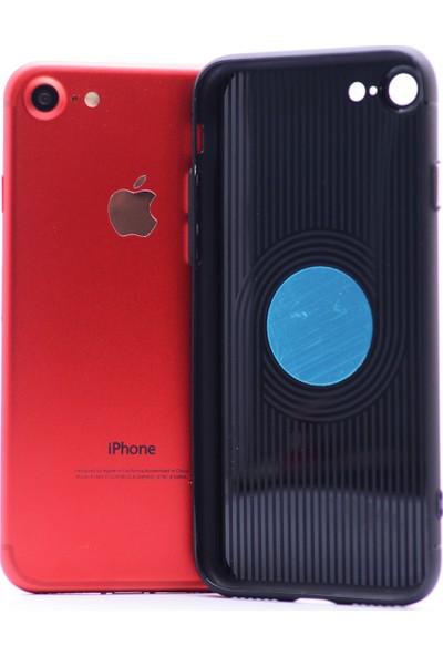 Case 4U Apple iPhone 6S Kılıf Mıknatıslı Silikon Arka Kapak - Siyah