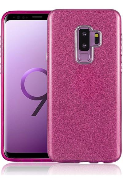 İmonya Samsung Galaxy S9 + Plus Simli Silikon Mueral Shining Kılıf