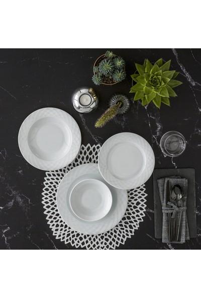 Güral Porselen Alfa 24 Parça 6 Kişilik Yemek Takımı