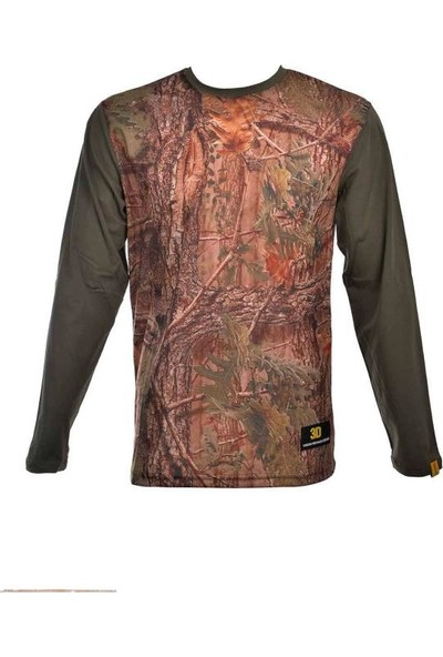 Guntack Orman Temalı Uzun Kollu Erkek T-Shirt