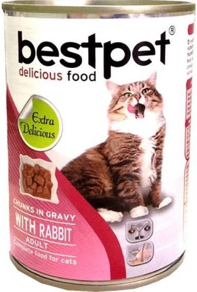 Bestpet Yetişkin Tavşan Etli Kedi Maması 415 Gr