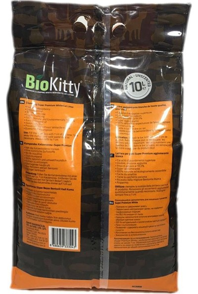 Biokitty Bentonit Kedi Kumu Kokusuz Ultra Topaklanan Tozsuz Bebek Pudra Kokulu 5 Litre