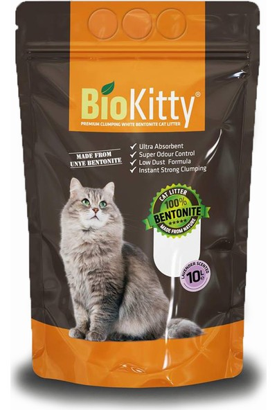Biokitty Lavanta Kokulu 10 litre İnce Taneli Kedi Kumu