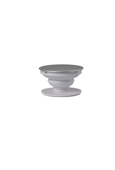 Poppy® Katlanabilir Telefon Tutucu ve Telefon Standı (Iphone Silver: Gümüş)
